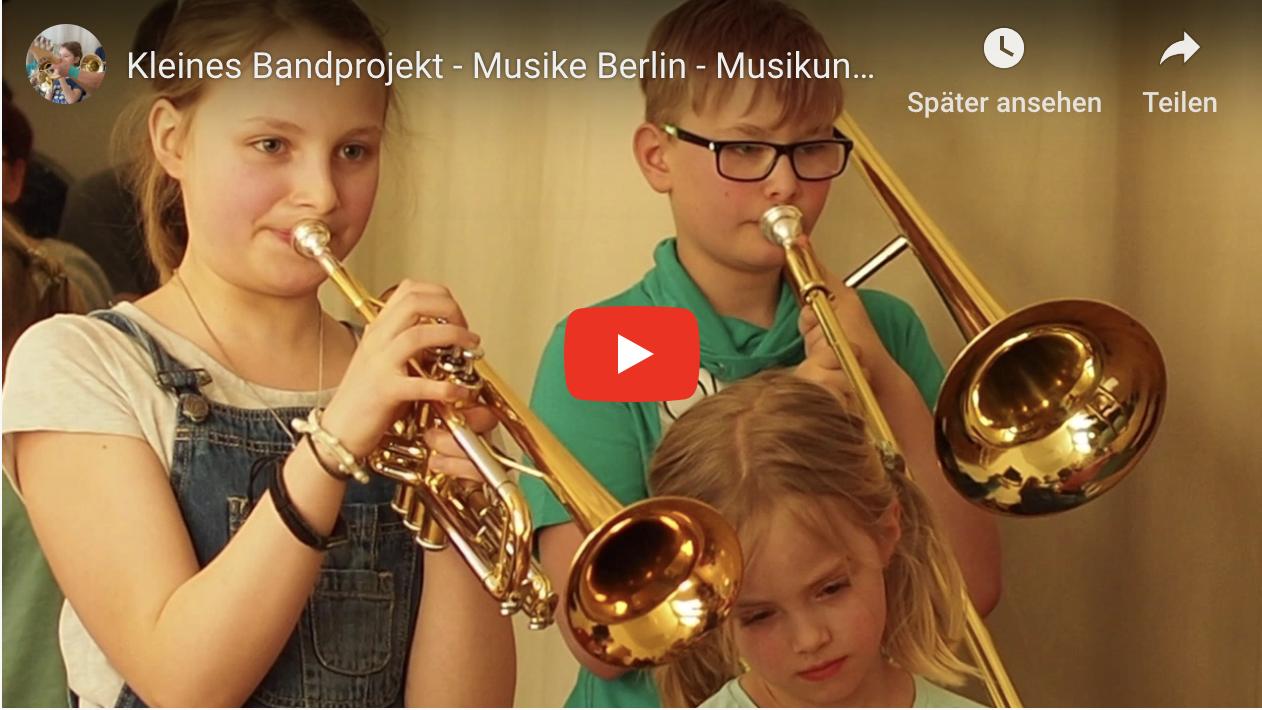 Musike Berlin -  Bildschirmfoto Bandprojekt 2017