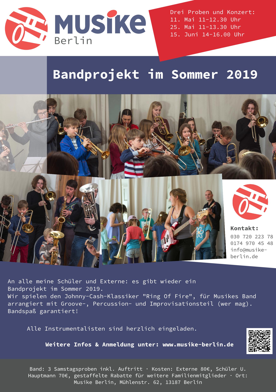 Webflyer Musikes Bandprojekt im Sommer 2019
